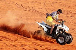 Red dune desert safari dubai wiht quaid bike
